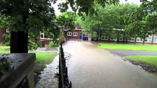 Flash floods in Shotley Bridge County Durham June 2012