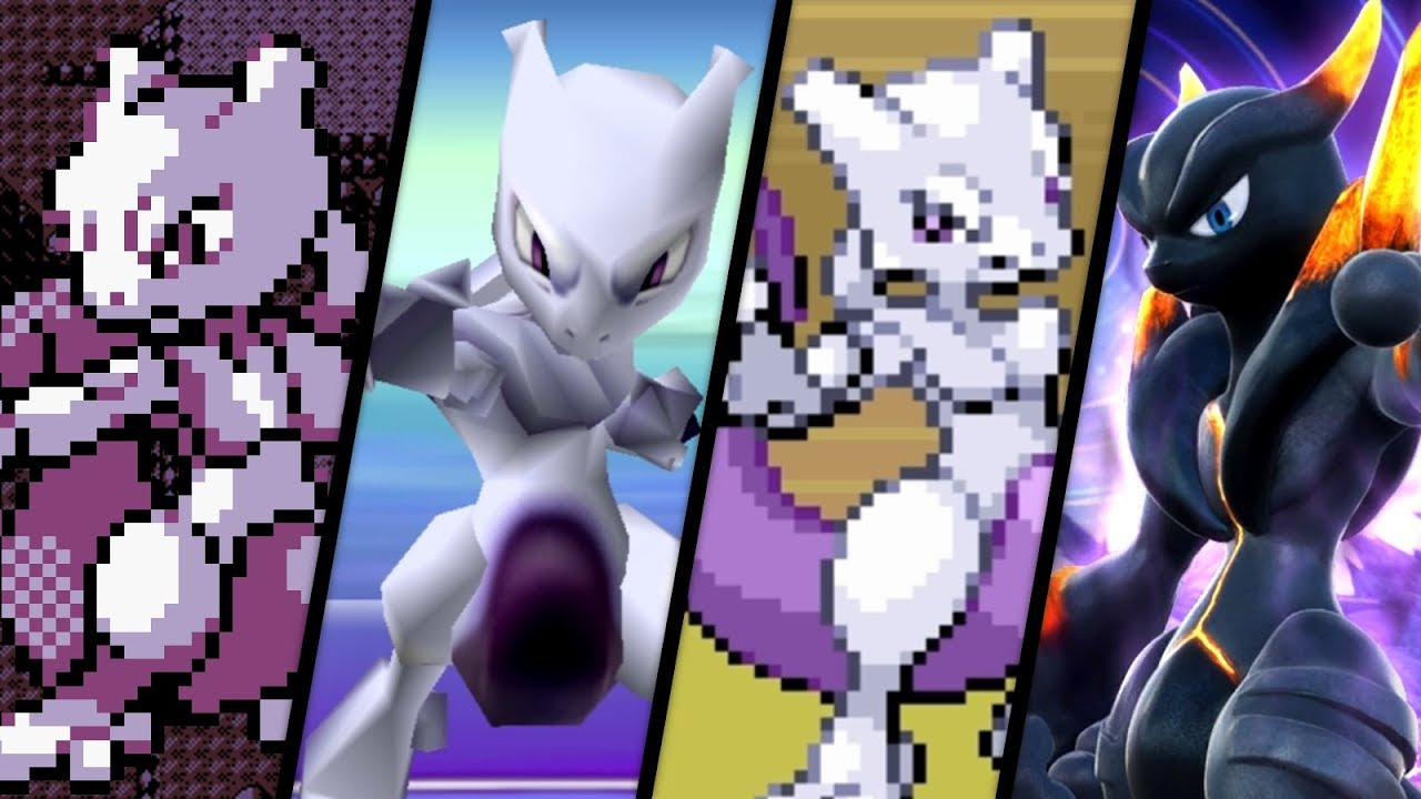 Evolution of mewtwo battles 1996 2018 youtube - Mewtwo evolution ...