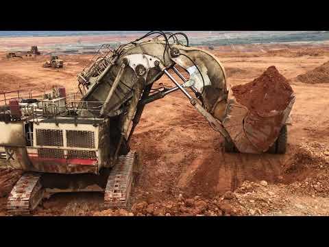 Terex RH170 Face Shovel Excavator Loading Dumpers