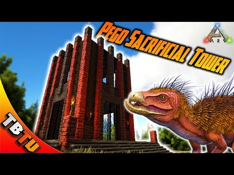 PEGOMASTAX SACRIFICIAL TOWER! BEST WAY TO LEVEL DIMORPHODON?! Ark Survival Evolved
