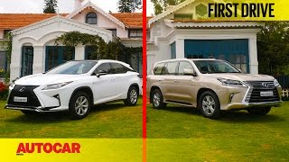 Lexus RX450h & LX450d | First Drive | Autocar India