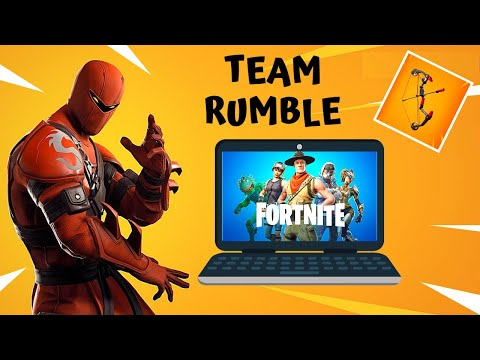 Playing Fortnite On Laptop -Team Rumble Game Play - No Commentary | Season 8 (v7)