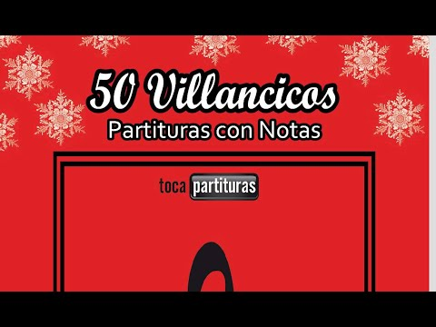 50 Partituras con Notas de Villancicos Libro PDF Partituras de Navidad