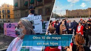 Afuera de Palacio Nacional, integrantes del Movimiento por Nuestros Desaparecidos en México entregaron a la Secretaría de Gobernación un documento en el que exigen vetar la nueva Ley de la FGR