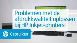Problemen met de afdrukkwaliteit oplossen bij HP Inkjet-printers