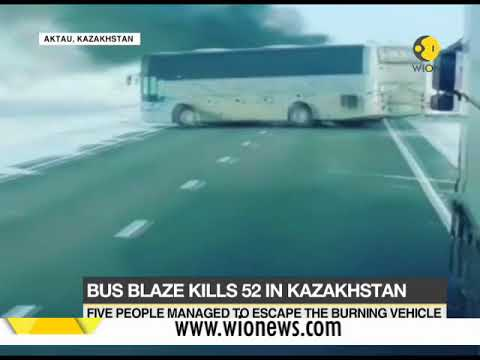 Bus blaze kills 52 in Kazakhstan