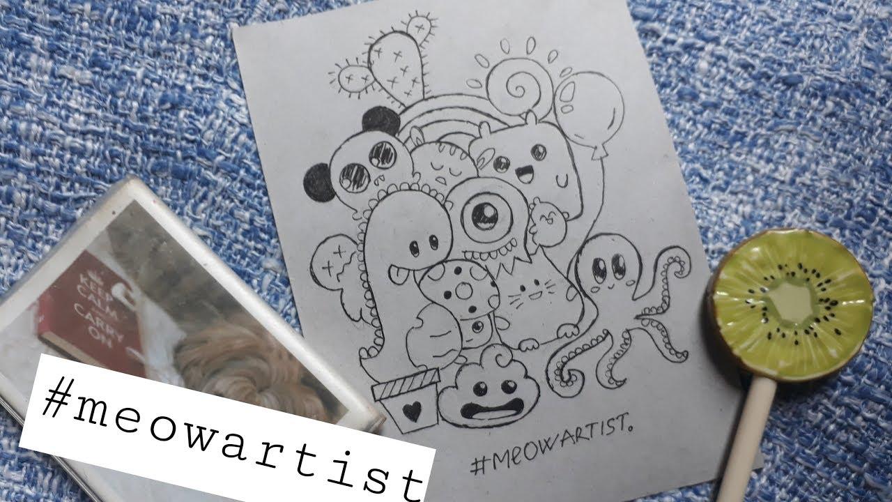 [Doodles cute art] {Vẽ nguệch ngoạc các hình dễ thương} #blackandwhite