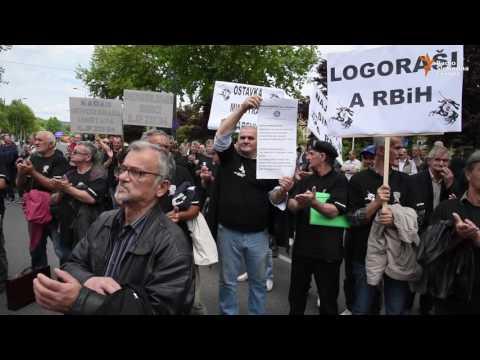 Sarajevo: Protesti demobilisanih boraca