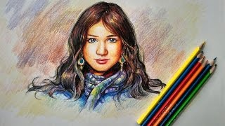 Learn Portrait Coloring With Color Pencils