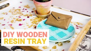 Make This Flower Petal and Gold Leaf Resin Tray!