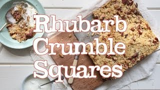 Rhubarb Crumble Squares | Abel & Cole