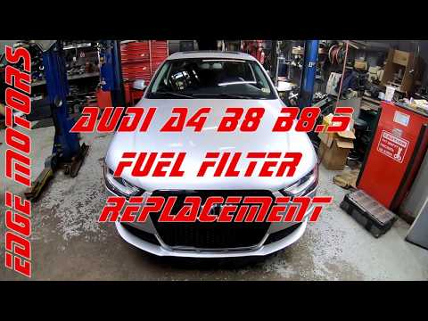 2013 to 2016 Audi A4 B8.5 Fuel Filter Replacement DIY by Edge Motors