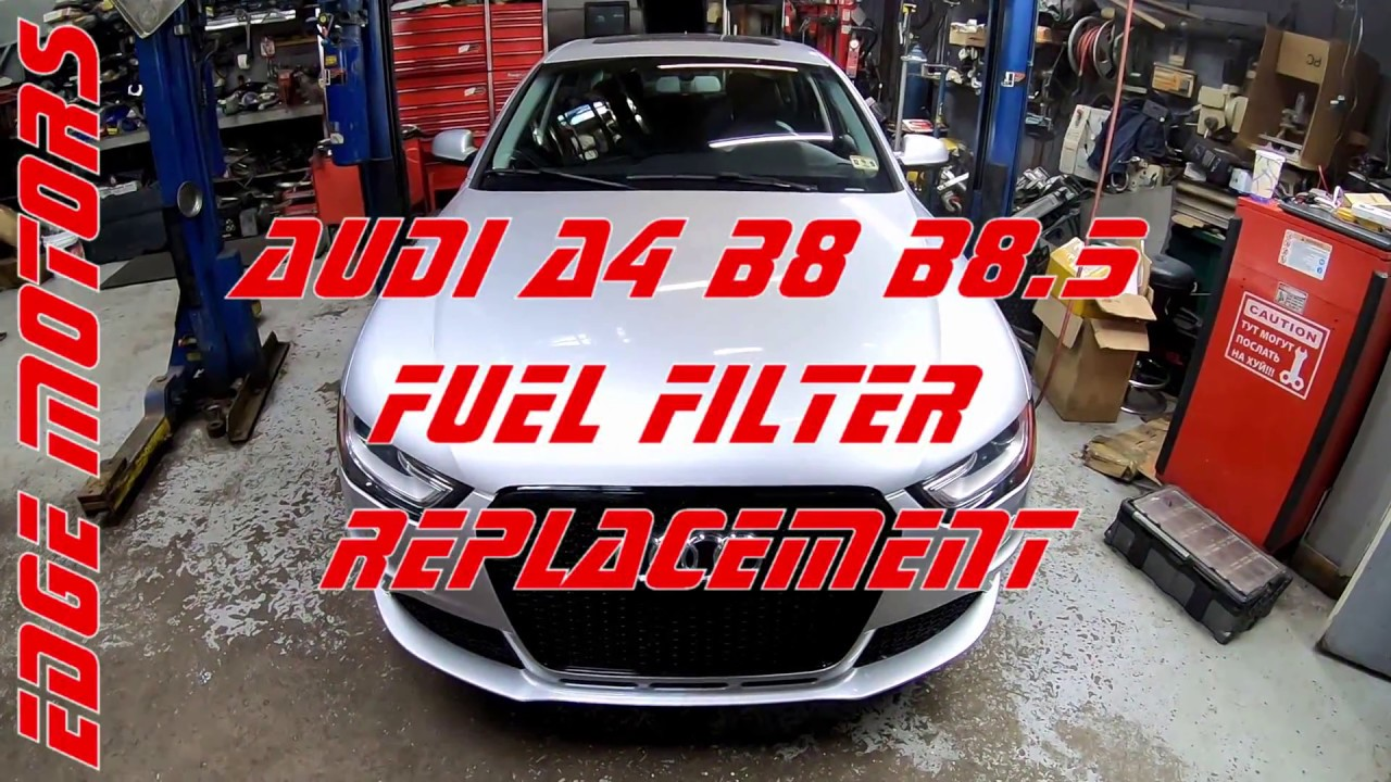 2013 to 2016 audi a4 b8 5 fuel filter replacement diy by. Black Bedroom Furniture Sets. Home Design Ideas