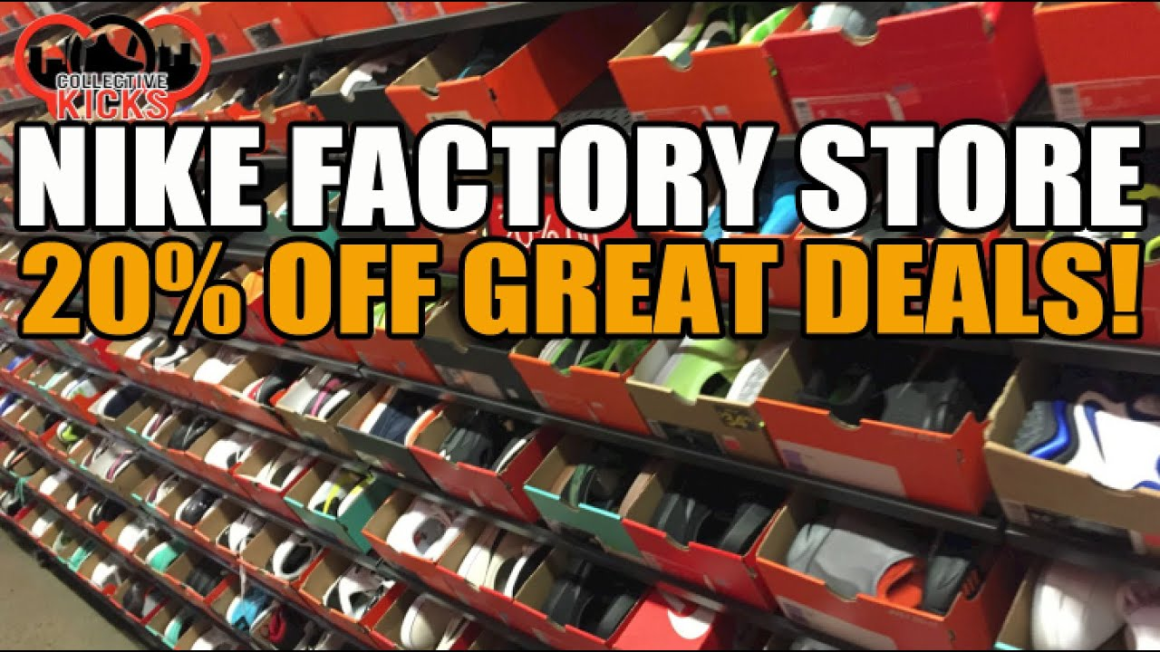 Nike Factory Store Sneaker Deals: 20% off Crazy Prices! (Nov 2014) - YouTube