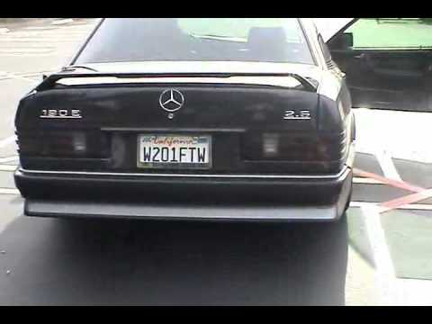Mercedes benz 190e 2 6 exhaust stock vs resonator delete for Mercedes benz catalytic converter recall