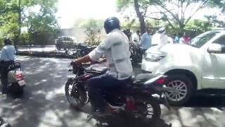how a helmet can save your life bajaj pulsar 150 accident must watch