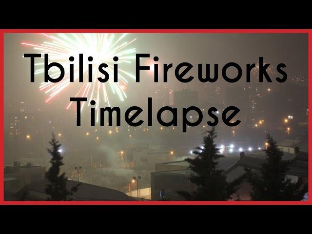 Tbilisi Fireworks 2019 Timelapse