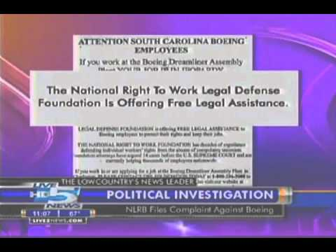 Right to Work Offers Free Legal Assistance to South Carolina Boeing Employees