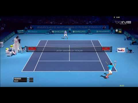 [ HD ] Roger Federer vs Jack Sock Practice Court   ATP World Tour Finals 2017 - 3D Animation