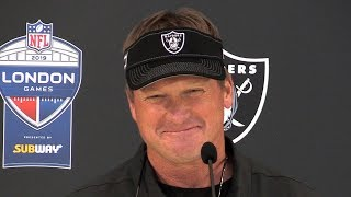 Oakland Raiders 24-21 Chicago Bears - Jon Gruden Full Post Match Press Conference - NFL