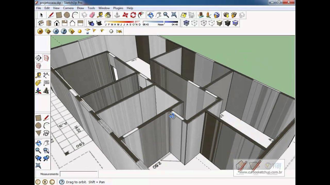 Curso Sketchup 8 Pro Online Aula Gr Tis Aula16 Criando