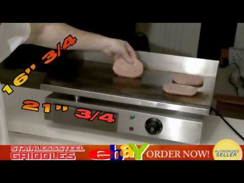 "21"" Mega Countertop Electric Griddle Stainless Steel Save Commercial Flat Top"