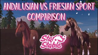 Andalusin vs Friesian Sport Comparison // Star Stable Online