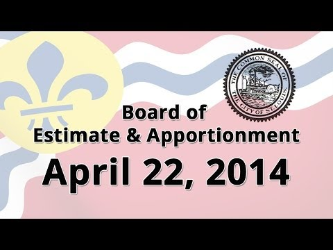 Board of Estimate and Apportionment 04 22 2104 Meeting