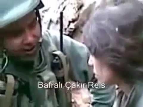 Yakalanan PKK'lı Köpek Bakın Nasıl Korkudan 2,5 Atıyor
