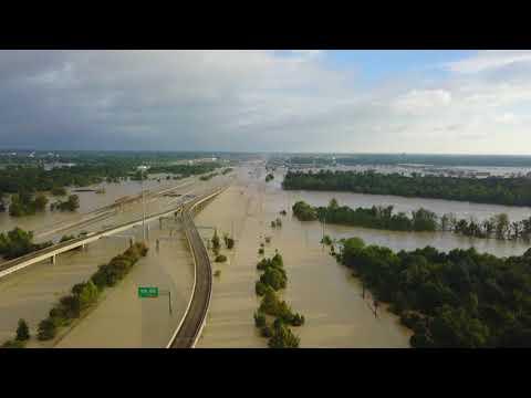 Hurricane harvey flooding, Humble, tx / inundacion por huracán Harvey, Humble, tx