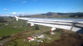 Landing in Rotorua: Air NZ A320 from Sydney (NZ820)
