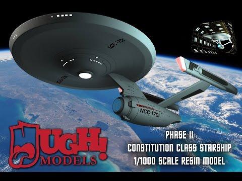 1/1000 Star Trek Phase II Enterprise Kit from UGH Models