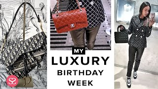 My Birthday Week! Massive Luxury Shopping In Hermes, Dior, Chanel .