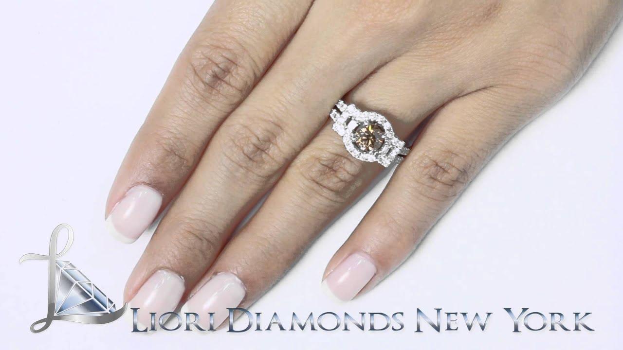 Chocolate Diamond Ring In White Gold