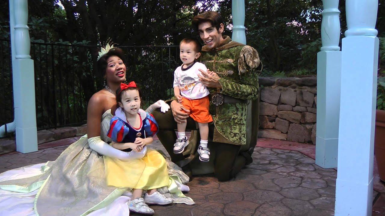 walt disney world meeting princess tiana and prince