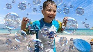 Johny Johny Yes Papa With Bubbles Outdoor Family Fun Beach Play Area Nursery Rhymes Baby Song