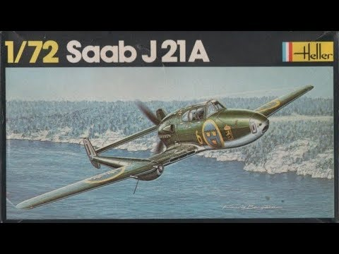 Heller Saab J 21 1 72nd Scale In Box Review