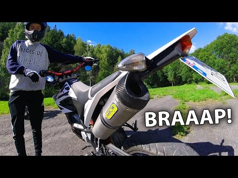 Yamaha WR125X Arrow Exhaust vs Stock Exhaust and Comparison