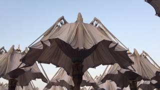 Opening of the umbrella at Masjid Nabawi
