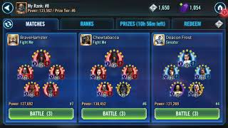 Rebels defeat Padme with 3po and 7 relic Anakin SWGOH squad arena
