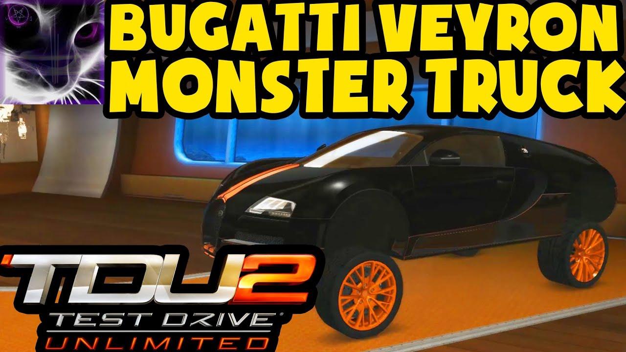 bugatti veyron monster truck test drive unlimited 2. Black Bedroom Furniture Sets. Home Design Ideas