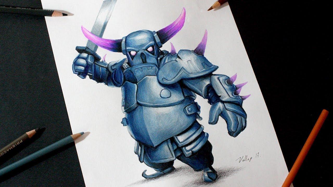 Dibujando Al PEKKA De Clash Royale Y Clash Of Clans