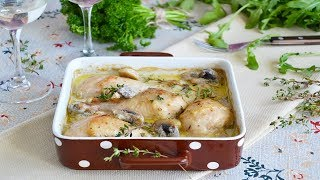 Курица под соусом в духовке