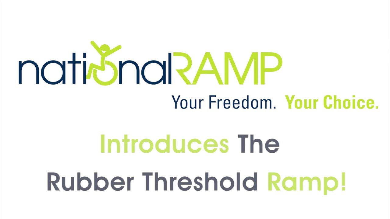 New Rubber Threshold Ramp from National Ramp