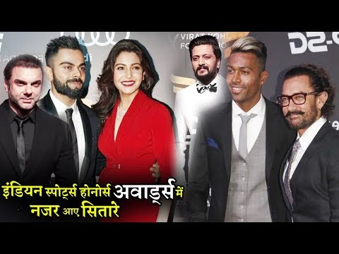 Virat Kohli to Anushka Sharma, Stars Glitter | Indian Sports Honours Awards 2017 | Uncut