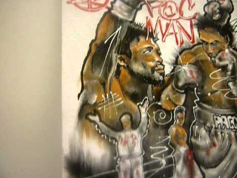 Thesis Originals: Hand Painted Manny Pacquiao T-Shirt (No Airbrush)