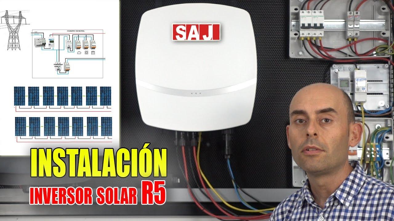 Instalación SAJ R5 inversor autoconsumo paneles solares
