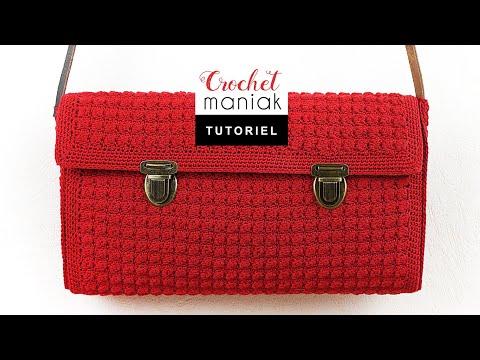 tutoriel crochet sac style vintage retro old school facile