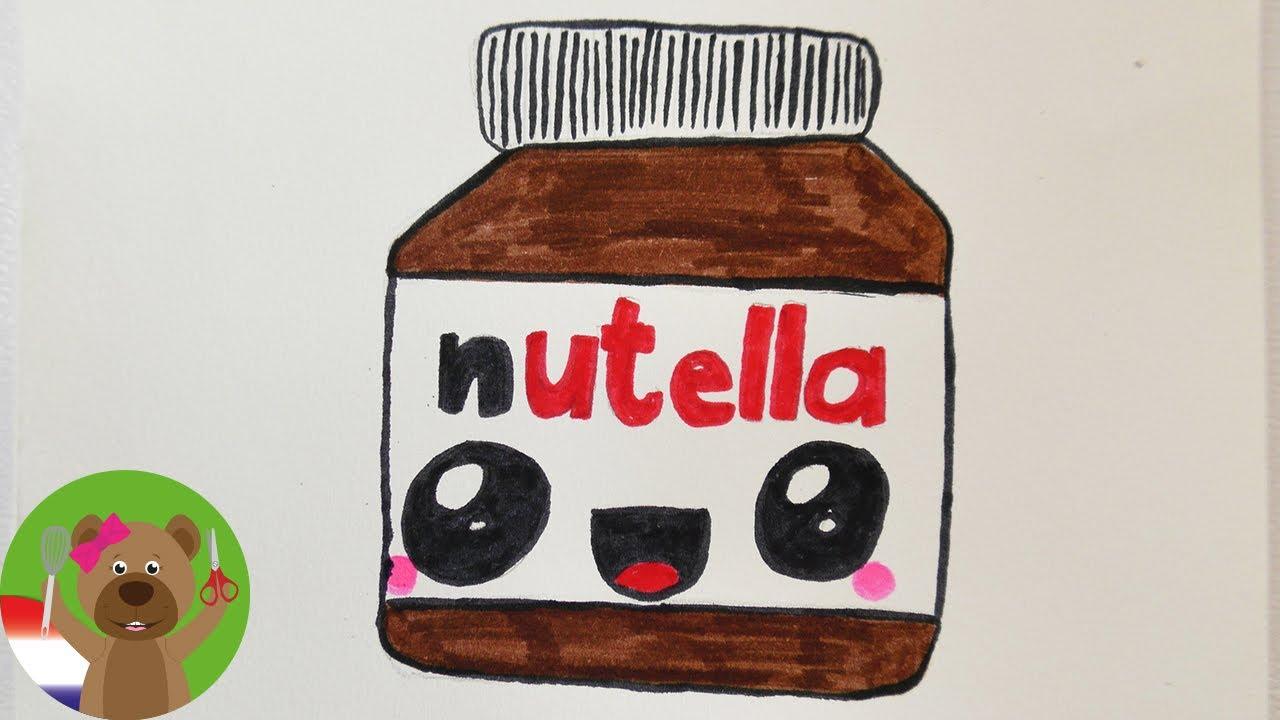 Super KAWAII NUTELLA DIY tekenen | Schattige chocopasta tekenen voor @KF44