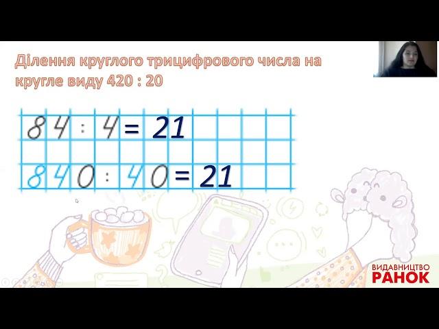 3 клас. Математика. Ділення виду 420 : 20